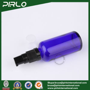 50ml Cobalt Glass Spray Bottles with Black Lotion Pump Sprayer pictures & photos