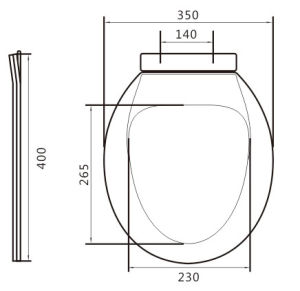 Toilet Parts of Low Cost PP Toilet Seat pictures & photos