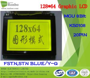 128X64 Graphic LCD Module, MCU 8bit, Ks0108, 20pin, COB Graphic LCM Screen pictures & photos