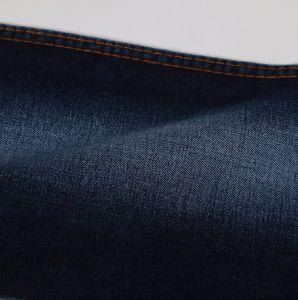 Indigo10oz Twill Cotton Polyester Spandex Viscose Denim Fabric pictures & photos
