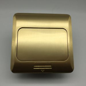 Copper Alloy Box 120*120mm Pop up Electric Waterproof Floor Socket pictures & photos