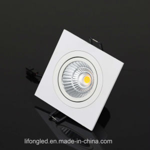 Recessed Ceiling LED Down Light Square Downlight Adjustable Retrofit 10W pictures & photos