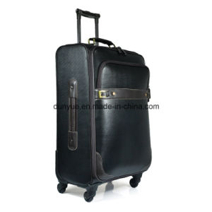 Decent PVC/PU Leather Luggage Suitcase, Customized OEM Travel Trolley Case for Business Trip pictures & photos