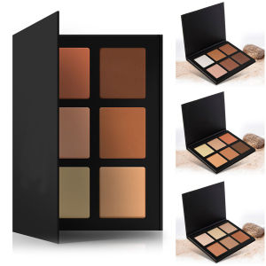 High Quality 6 Colors Flawless Press Powder Foundation Palette Highlight Cosmetic Powder pictures & photos