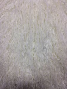 White Bonding Mongolia Faux Fur