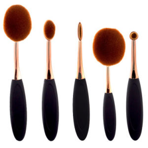 5PCS Oval Rose Handle OEM Cosmetics Makeup Brush Set pictures & photos