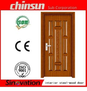 Interior Steel-Wood Door Room Door with Cheap Price (SV-SW009) pictures & photos