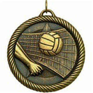 Custom 3D Antique Brass Volleyball Medal pictures & photos