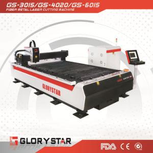 500W Optical Fiber Laser Cutting Machine GS-3015 on Sheet Metal pictures & photos