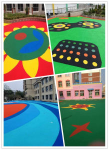 Rubber Track Flooring, EPDM Flooring, Playground Flooring pictures & photos