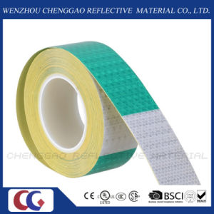 "6"" Green / 6"" White Reflective Safety Caution Warning Tape Stickers (C3500-B(D)) pictures & photos"