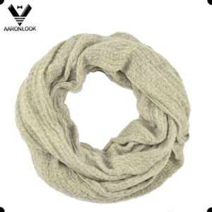 Lady Pure Color Soft Acrylic Knit Tube Scarf pictures & photos