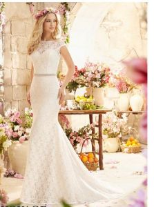 2016 Lace off-Shoulder Bridal Wedding Dresses Wd6804 pictures & photos
