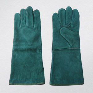 Standard Cow Split Leather Welding Glove (6504. GN) pictures & photos
