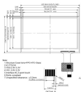 """Outdoor Use Highbrightness 4.3""""TFT Screen with Capacitive Touch Panel: ATM0430d12b-CT pictures & photos"""