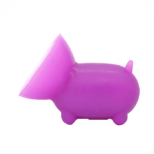 2 PCS Free Shipping Cute Pig Shaped Silicone Cell Phone Holder ((Random color) pictures & photos
