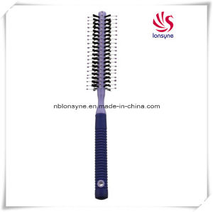 Round Hairbrush with Nylon Pins