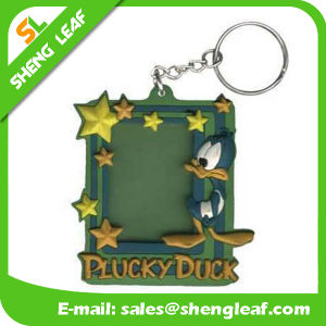 Promotional Photo Frame Soft PVC Rubber Keychain (SLF-KC088) pictures & photos