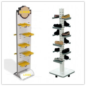 Free Standing Shoe Metal Floor Display Stand pictures & photos