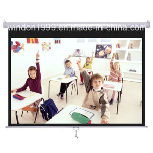 12′x12′ Manual Projector Screen Pull Down Projection Screen pictures & photos