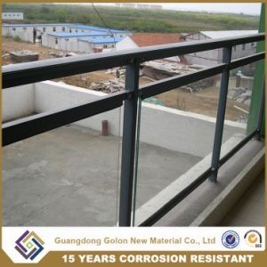 No Welding Galvanized Steel Porch Fencing with Glass pictures & photos