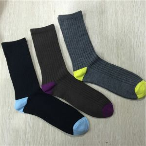 Men Plain Cotton Socks pictures & photos