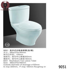 Factory Price Two Piece Toilet Sanitary Ware (9043) pictures & photos
