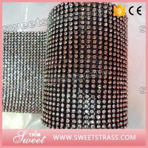 45*120 Cm Hot Fix 3mm Aluminum Crystal Rhinestone Mesh Sheet pictures & photos