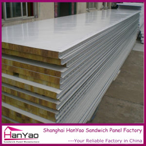 High Quality Color Steel Rock Wool Sandwich Panel pictures & photos