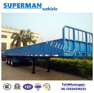 40FT 3 Axle Side Wall/Door Cargo Semi Truck Trailer for Sales pictures & photos