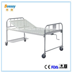 Cheap One Crank Manual Bed Hospital Manual Bed with Backrest pictures & photos