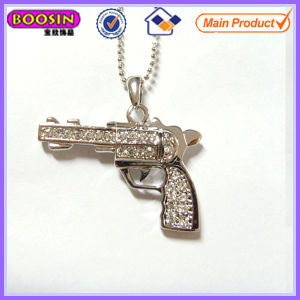 Looks Real Rhinestone Metal Gun Charm #13348 pictures & photos