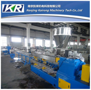 Small Plastic Extruder Manufacturer Supply Plastic Masterbatch Making Granulating Parallel Twin-Screw Extruder Machine pictures & photos