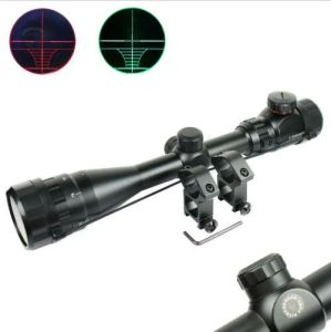 3-9X40 Aoeg Hunting Rifle Scope Red Green Dual Illuminated Optical Gun Scope pictures & photos