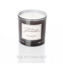 Frosted Scented Soy Black Glass Candle with Metal Lid and Ribbon pictures & photos
