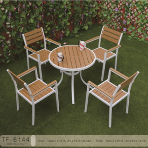 Leisure Ways Wooden Garden Furniture Patio Dining Table 5PCS Set