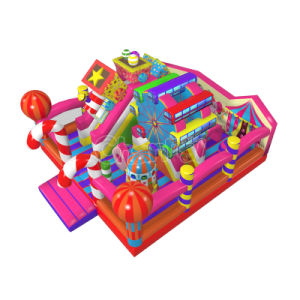 Candy Inflatable Castle Obstacle Course for Kids Chob561 pictures & photos