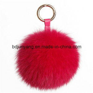 Factory Supply Cheap Fox Fur Balls Key Ring pictures & photos