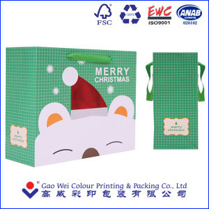 2016 New Design Fashion Factory Directly Custom Christmas Gift Shopping Paper Bag pictures & photos