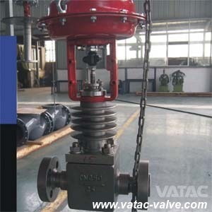 Pneumatic Operated Globe Control Valve with Flanged Ends pictures & photos