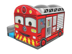 Original Design Inflatable Firetruck Bouncer for Commercial Use (CHB1133) pictures & photos