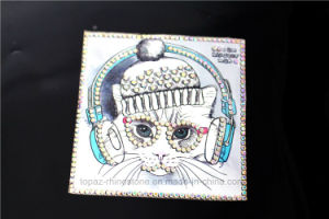 Cat Design Rhinestone Iron on Patches Heat Transfer Motif (TM-200 cat) pictures & photos