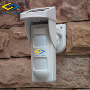 Solar Powered IP65 Water Proof Wireless 2 PIR Outdoor Motion Detector (OSD-40DP) pictures & photos