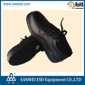 ESD Black Safe Shoe with Steel Toe 3W-9108 pictures & photos