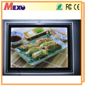 Acrylic LED Frame Light Box Display with Cutout-Design (CSW02-A3L-01) pictures & photos