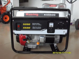 Guangzhou 5kw Portable Gasoline Electric/Recoin Start Generator
