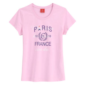 Customized High Quality (100%Cotton) Personalized Fashion Women′s Tees pictures & photos