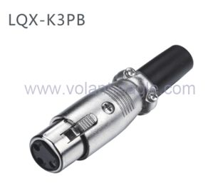 Competitive Audio Connectors 3-Pin Female XLR Connector with RoHS pictures & photos