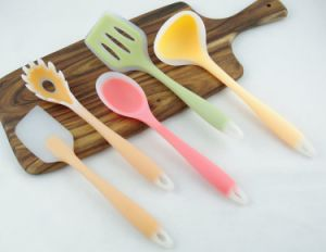 Atoxic Food Grade Long-Stakled Silicone Rubber Spoon