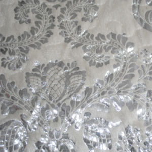 New Polyester knitting Fabrics Burnout Design for Sofa pictures & photos